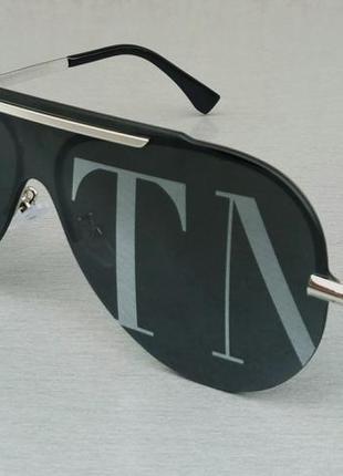 Valentino очки маска женские солнцезащитные с логотипом на линзах