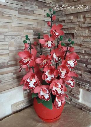 Светодиодный светильник - красная орхидея