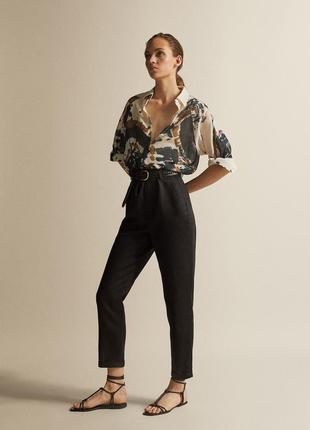 Крутые брюки, штаны с высокой посадкой от massimo dutti, оригинал