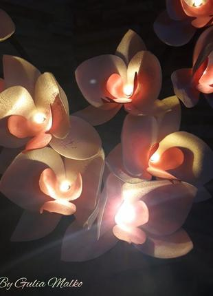 Светильник - розовая орхидея