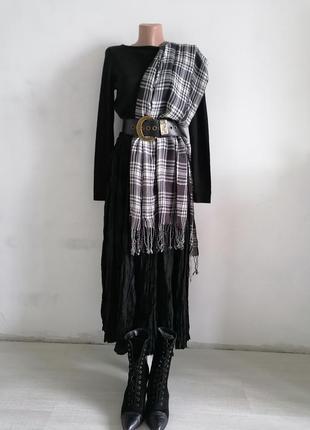 👜большой шарф в клетку👜чёрно - белый клетчатый шарф в стиле dior