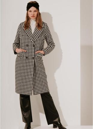 2020! valentir шерстяное пальто прямое классическое с поясом. крупная гусиная лапка.