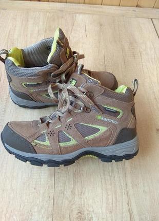 Ботинки трекинговые karrimor mountain mid ladies 7 weatherline taupe/green