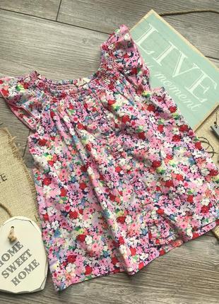 Блуза в цветы h&m 4-5л