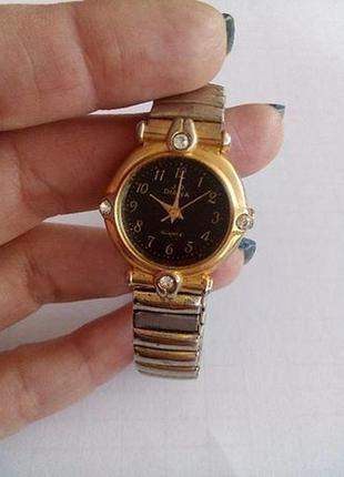 Часы j.d. diana (япония), винтаж 90-е, кварцевые с браслетом