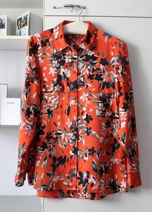 Красивая рубашка в цветы от marks&spencer
