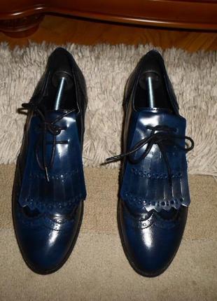 Эксклюзив.крутые статусные туфли-оксфорды softgrey,полн.кожа,португалия