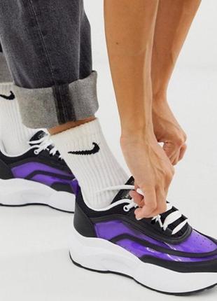 На 36 37 р  sixty seven кожаные фиолетовые кроссовки с прозрачным