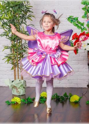 Карнавальный костюм бабочка, фея, весненний утренник