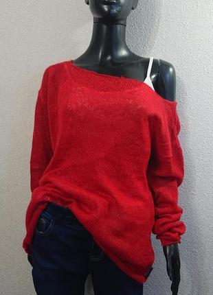 Легкий прозорий светр з ніжного мохеру
