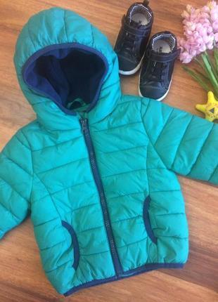 Классная демисезонная спортивная куртка для малыша f&f 6-9 месяцев
