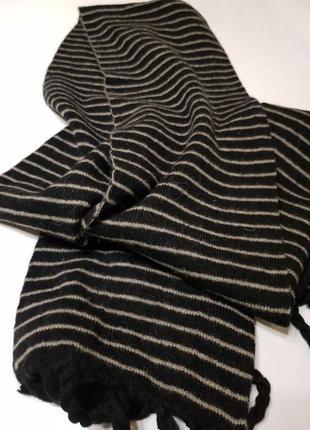 Тёплый шерстяной шарф