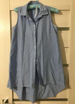 Удлиненная рубашка reserved{подойдёт для беременных}