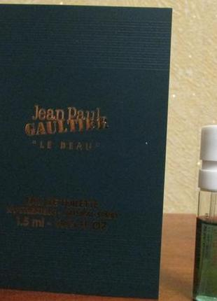 Туалетная вода le beau jean paul gaultier 1,5 мл.
