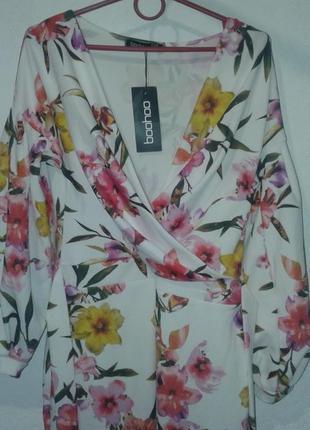 Платье  в цветочный принт открытые плечи больше платьев в профиле