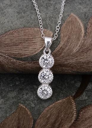Цепочка с кулоном покрытие серебро код 1373