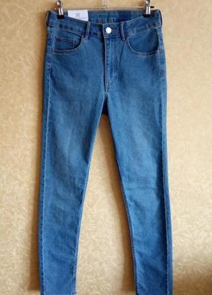 Брендовые джинсы скинни / высокая посадка 🔥сезонные скидки🔥