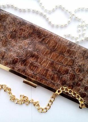 Клатч jessica mcclintock (кожа крокодила), сумочка
