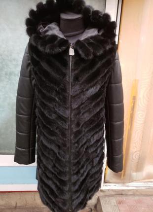 Акция!!! роскошная норковая куртка трансформер