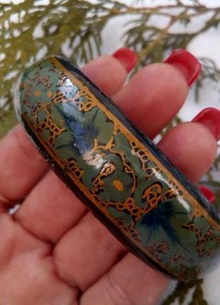 Браслет, ручная роспись (лак, эмаль, золочение) замкнутый