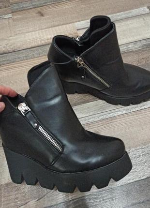Классные демисезонные ботинки, ботильоны
