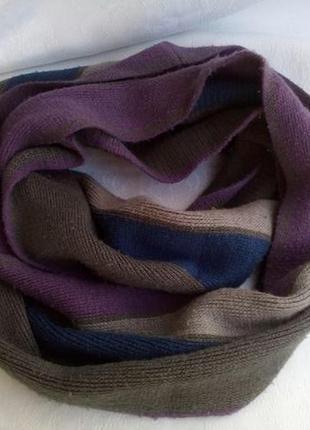 Снуд (хомут-шарф на голову) шерстяной