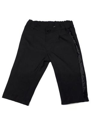 Черные демисезонные брюки  рост 74 h&m