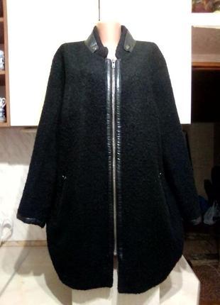 Новая брендовая куртка шубка деми\ еврозима, букле, тедди, 19% шерсть от andrea