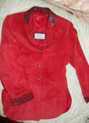 Замшевый пиджак. куплен в испании.