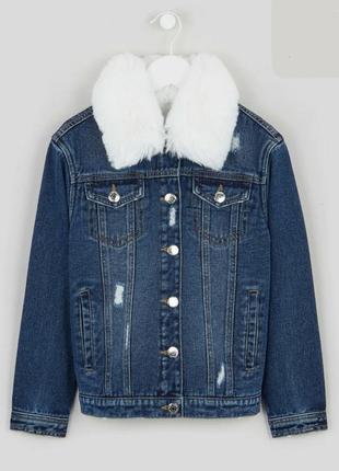 Куртка с мехом, джинсовка с мехом, теплая джинсовка, джинсовая куртка теплая