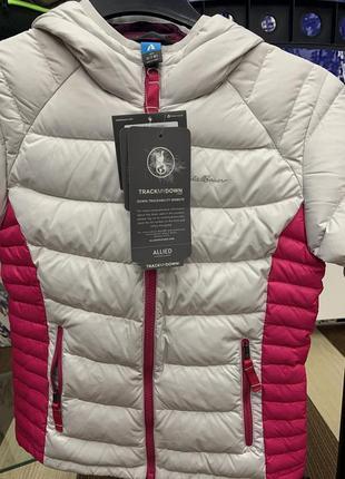 Куртка eddie bauer girls downlight hooded jacket silver