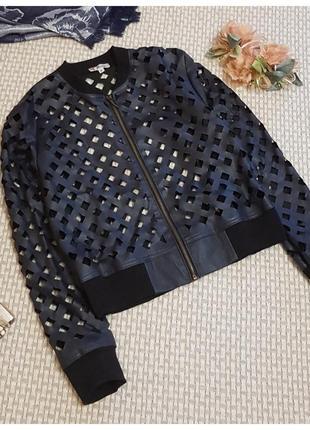 Куртка-бомбер из перфорированной кожи ruuj/косуха ruuj
