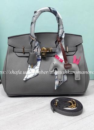 Женская сумка в стиле hermes birkin гермес биркин