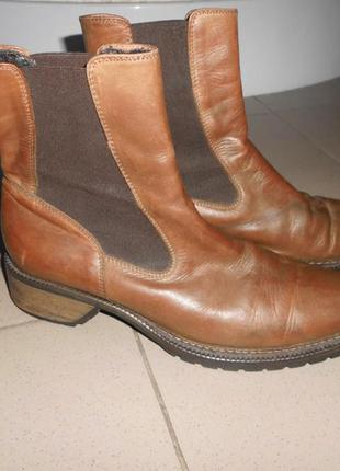 Рыжие ботинки челси винклпикеры кожа