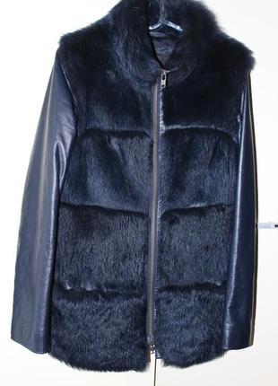Кожаная куртка-жилетка