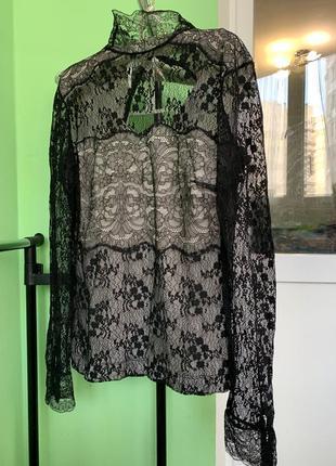 Нереальная кружевная блуза mango / актуальная вещь