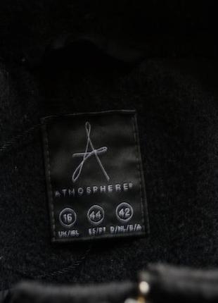 Актуальное серое пальто с капюшоном от atmosphere2