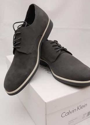 Мужские кожаные туфли дерби calvin klein faustino