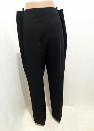 Классические прямые брюки с высокой посадкой3 фото