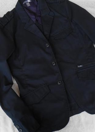 Мужской жакет темно-синий  h&m