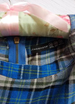Клетчатая блуза с баской и замочком сзади atmosphere3