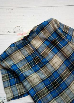 Клетчатая блуза с баской и замочком сзади atmosphere4