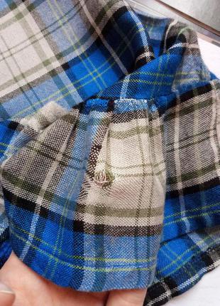 Клетчатая блуза с баской и замочком сзади atmosphere5