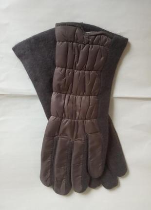 Женские перчатки темно-серого(есть золотистого ) цвета  размер 7-8