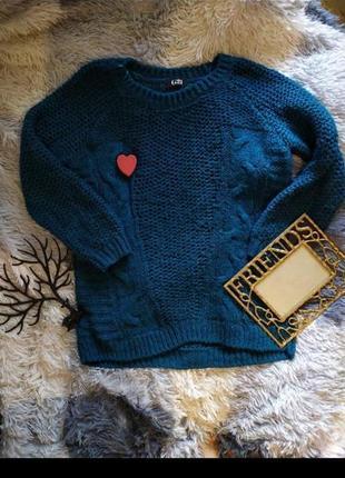Кофта светр свитер яркий блестки в'язаний вязанный