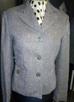 Шерстяной пиджак с блеском