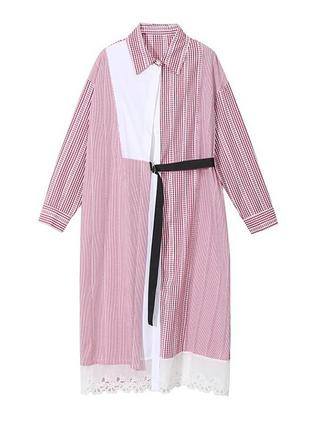 Платье рубашка длинное батал нарядное туника оверсайз большой размер бренд stella marina