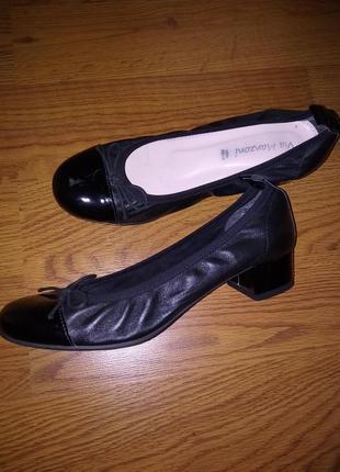 Туфли балетки натуральная кожа