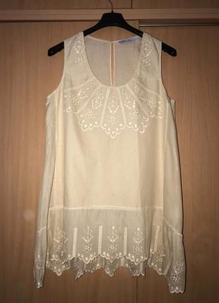Нежная французская батистовая блузка blanc azur оригинал