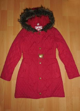 Стильное стёганное пальто фирмы tu